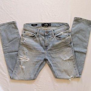 Hollister Light Wash Skinny Fit Flex Jeans